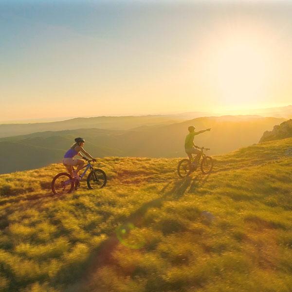 Sonnenuntergang Fahrrad Kirchberg